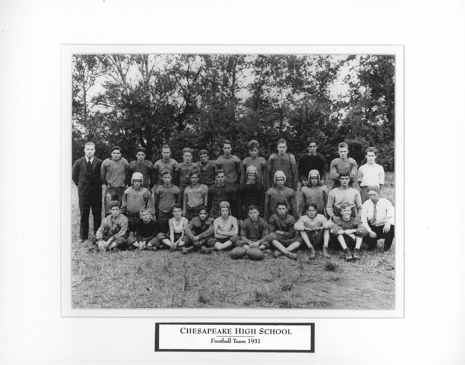Chesapeake High School Football Team 1931