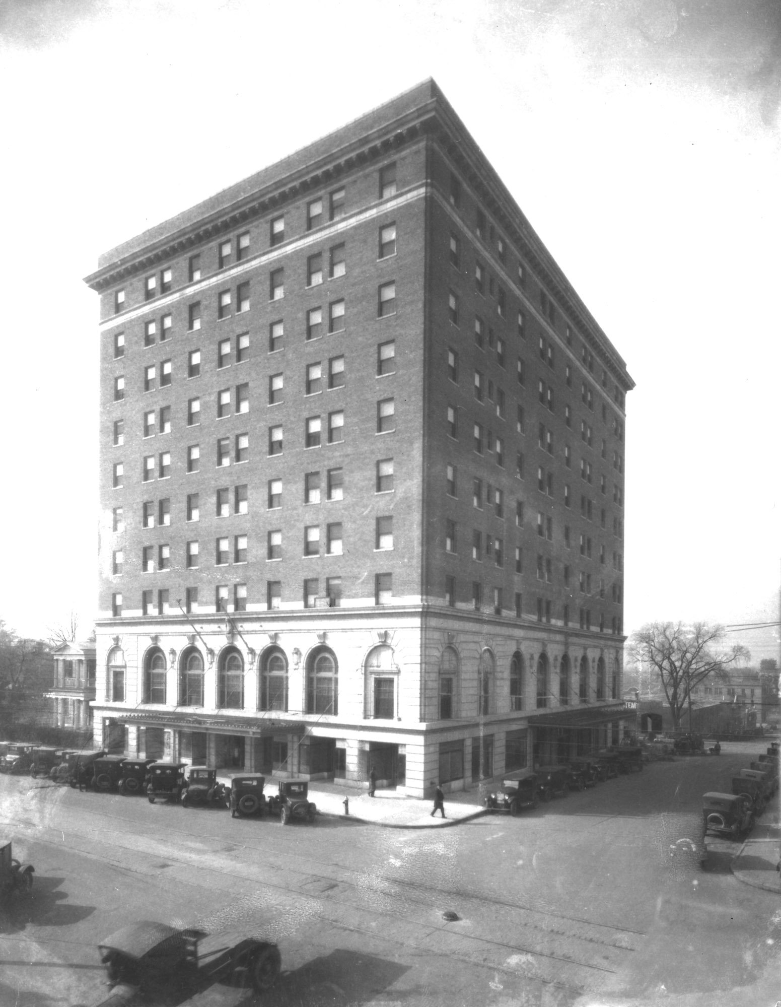 The Sir Walter Hotel in the 1920s. Photo from the State Archives of North Carolina.