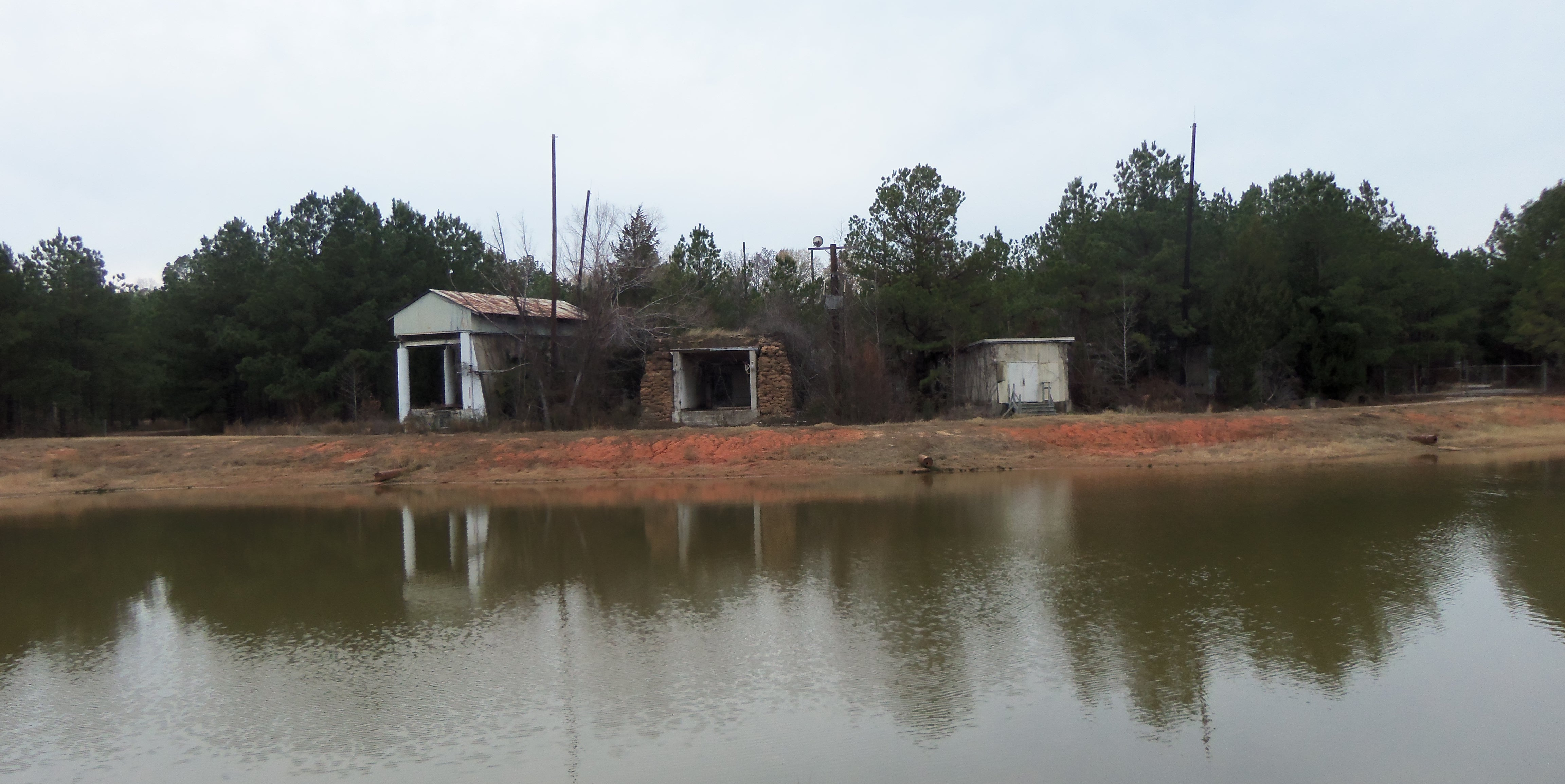 The area around the Longhorn Army Ammunition Plant is heavily wooded and sits on the southwestern shore of Caddo Lake.