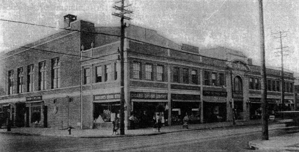 View of the Masonic Lodge in 1929