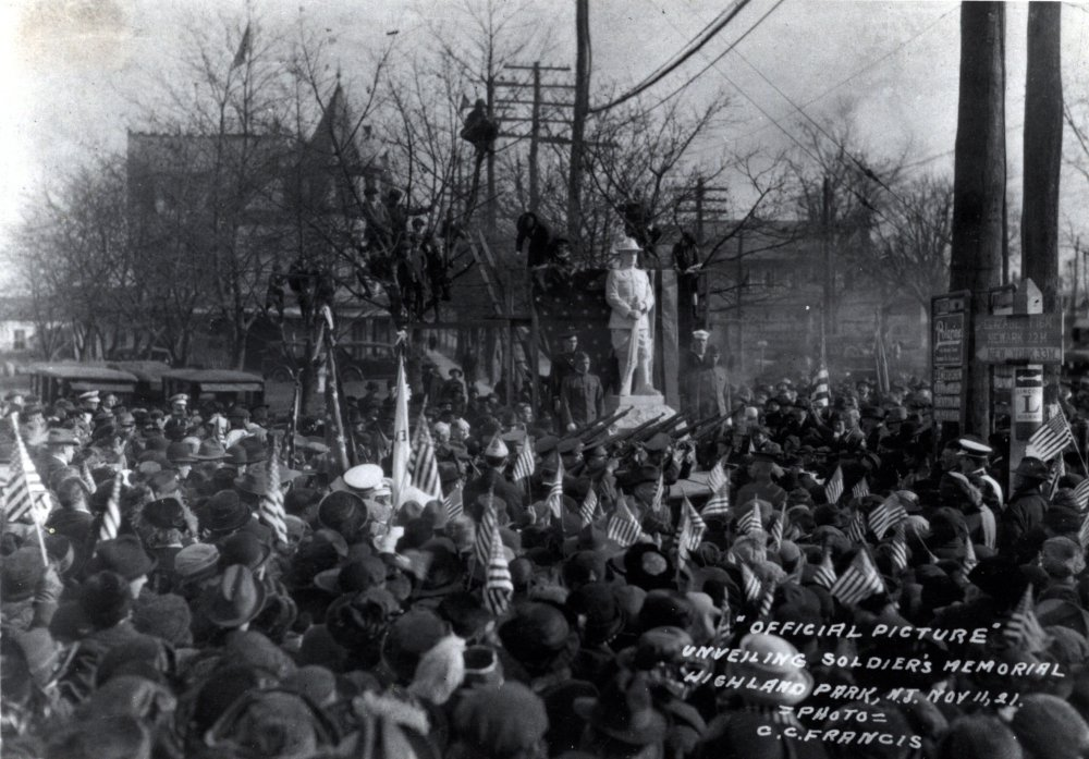 Dedication of the Doughboy Statue in 1921