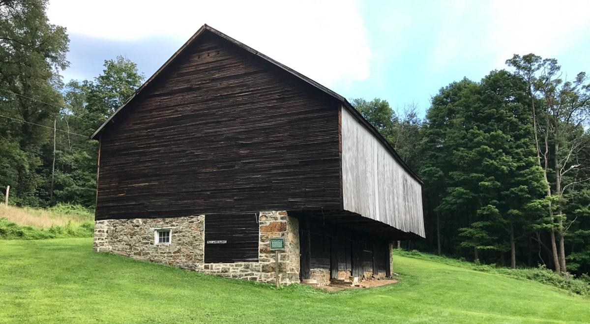 The barn on the Evergreen property with the original foundation built by Grimes in 1783.