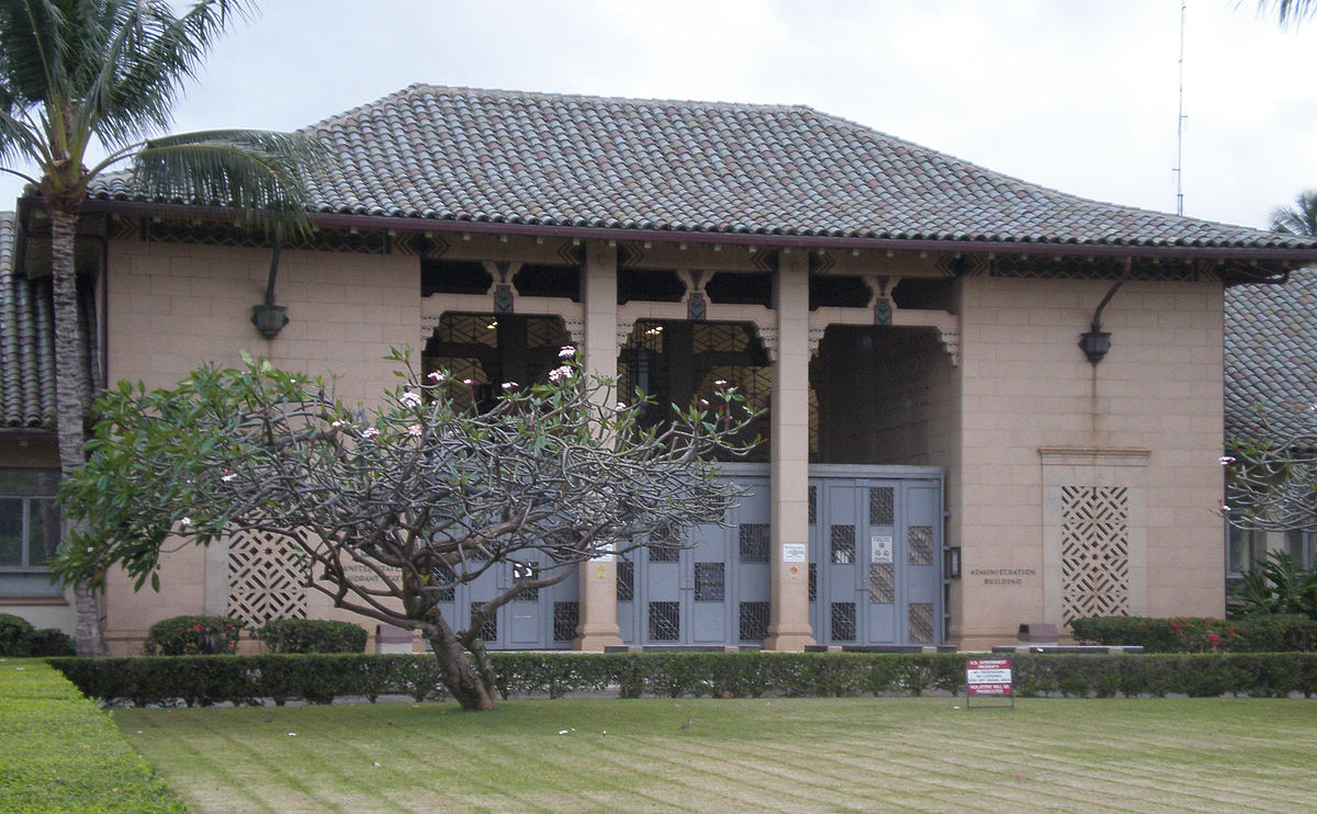 U.S. Immigration Station, 595 Ala Moana Boulevard, Honolulu, Hawaii, on National Register of Historic Places, designed by architect C. W. Dickey