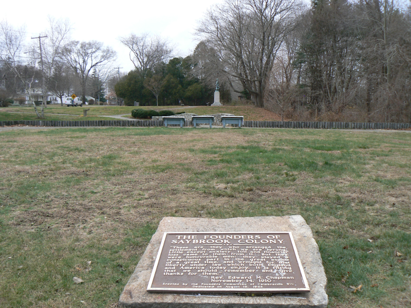 Fort Saybrook Monument Park was established in 1910 to preserve the location of the the state's first fort.