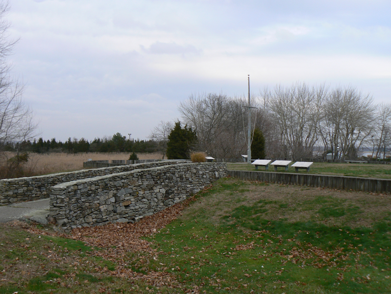 The site features a number of interpretive signs describing its history.
