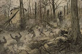 This painting portrays to some as what the Battle of Belleau Woods looked like as the AEF 