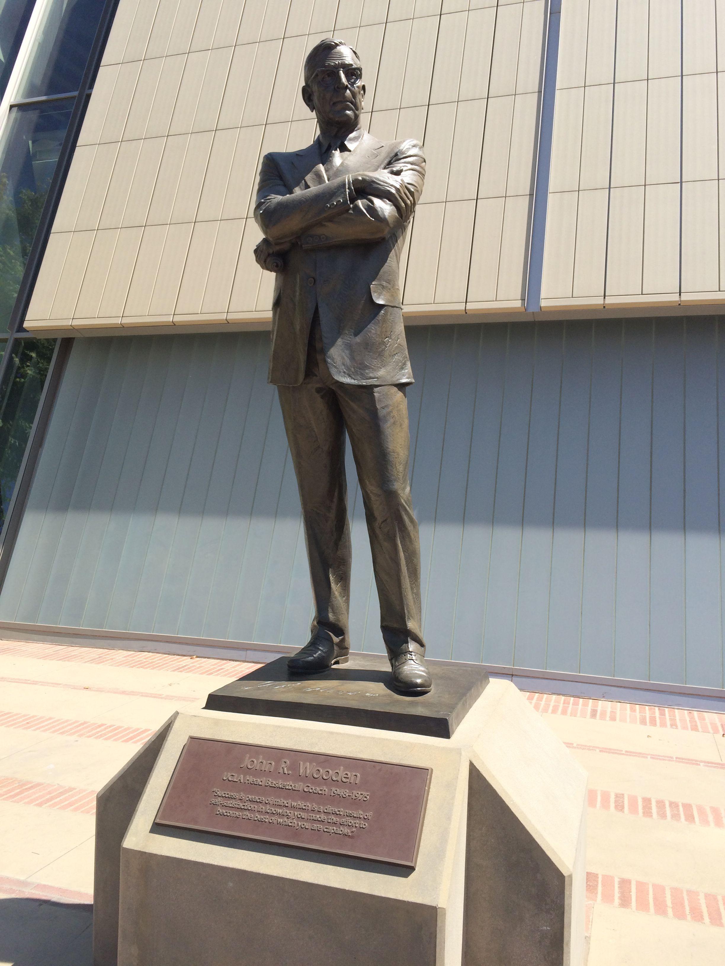 The John Wooden Statue