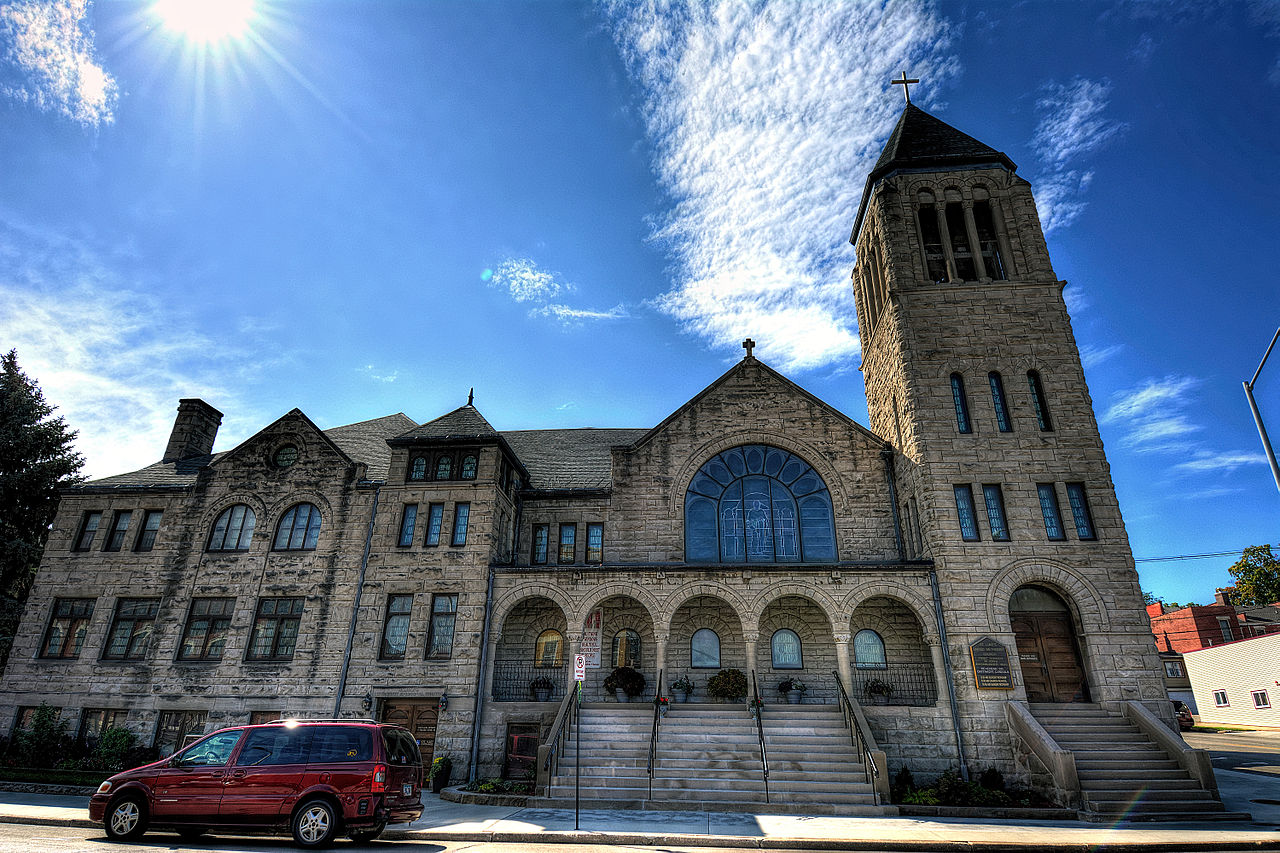 St. Luke's United Methodist Church was built in 1897 and features the largest collection of Tiffany windows in Iowa.