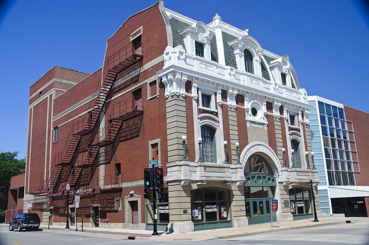 Five Flags Theater was built in 1910 and is listed on the National Register of Historic Places.