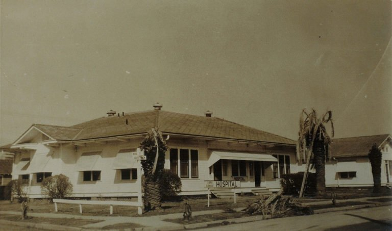 This 1923 photo shows the old Sugar land Hospital.
