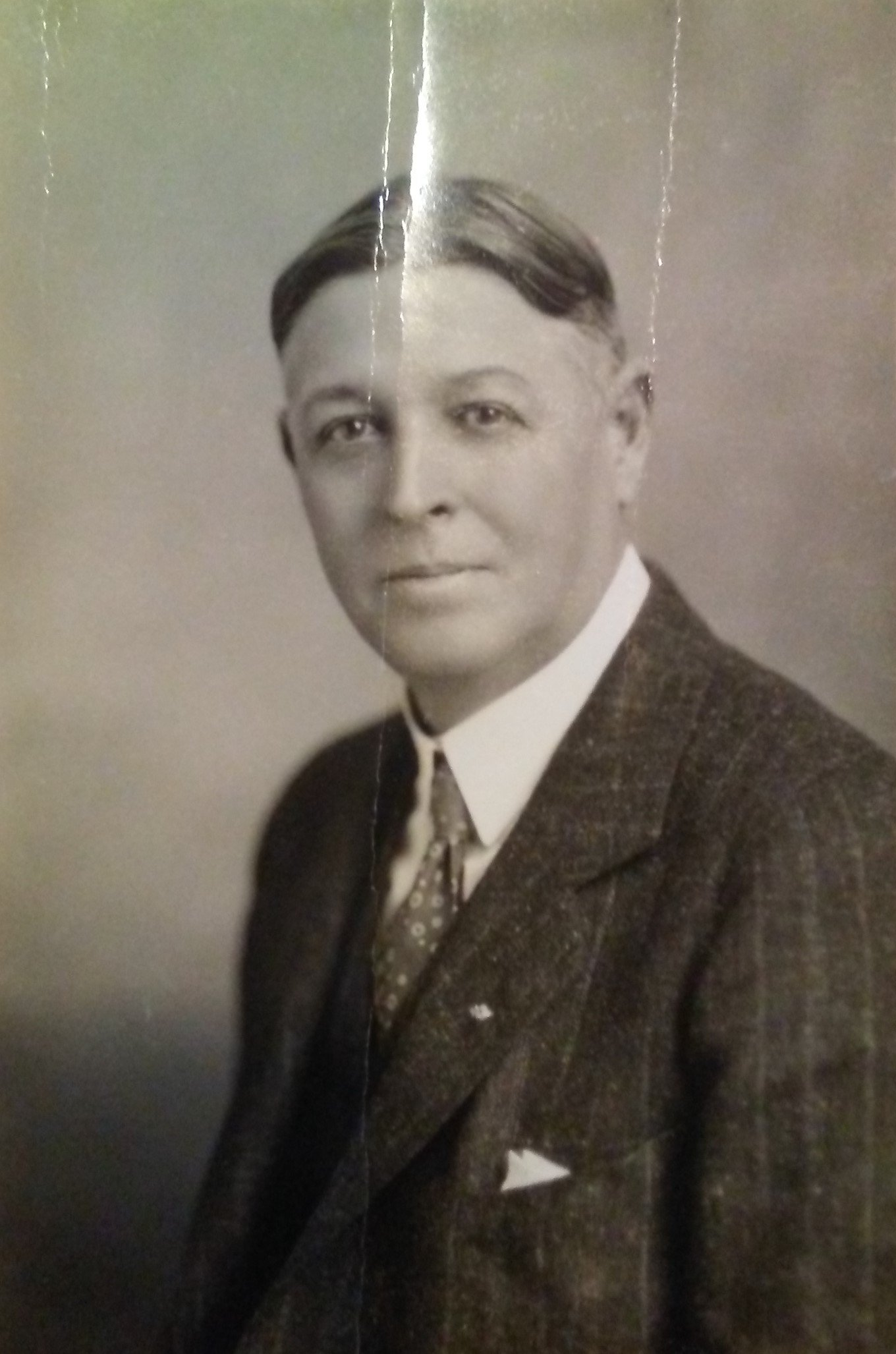 William Bennett Bizzell's picture printed in his book, The Relations of Learning, in 1934 during his presidency.
