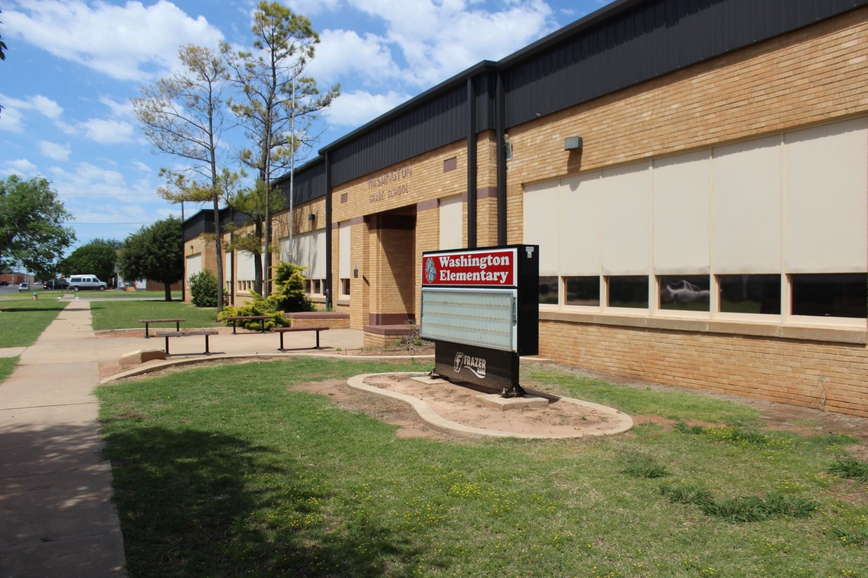 Washington Elementary School which was once the housing of altus high school students