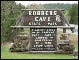 Latimer State Park changed its name to Robber's Cave State Park in 1936