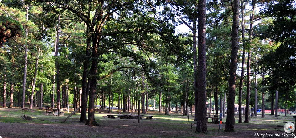 There are hundreds of camping spots in the park with varying amenities as well as the Belle Star Lodge and cabins for rent.