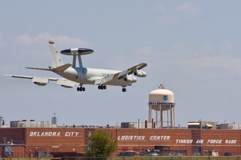 AWACS Landing at Tinker AFB