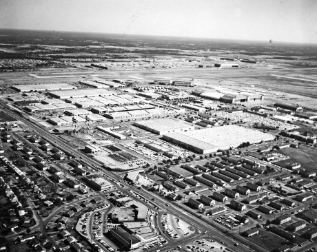 Aerial View of Tinker AFB, circa 1944