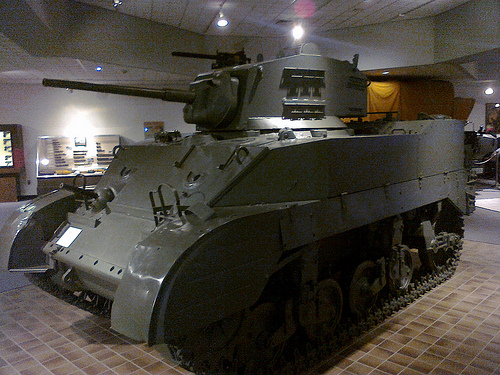 M5A1 Stuart Light Military Tank at the Virginia Military Museum.