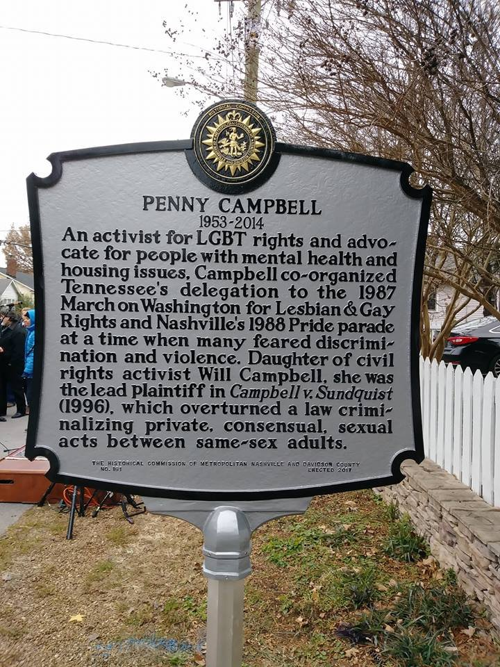 The Penny Campbell Historical Marker