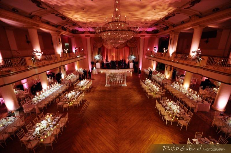 The hotel's ballroom
