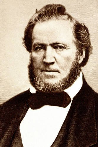 A photo of Brigham Young, who authorized construction of the Gardo House.