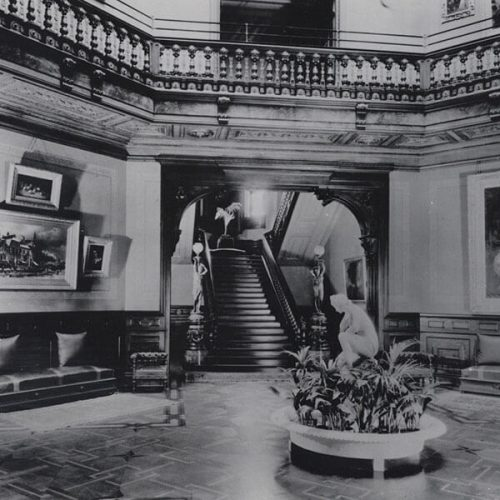 A historic photo of the Mansion's Rotunda