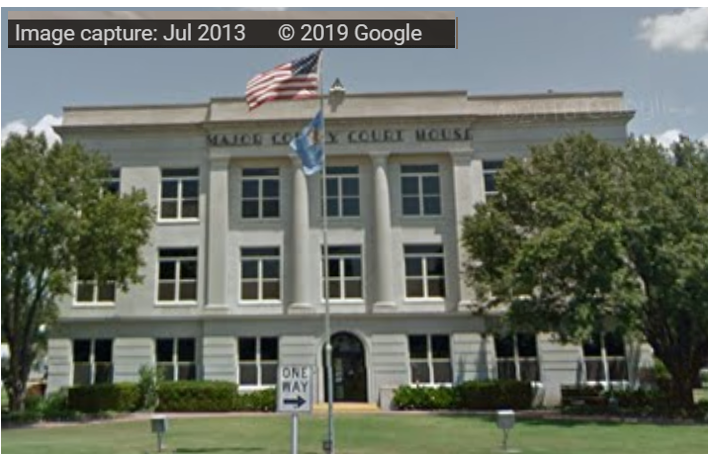 Major County Courthouse. Image from Google Maps.