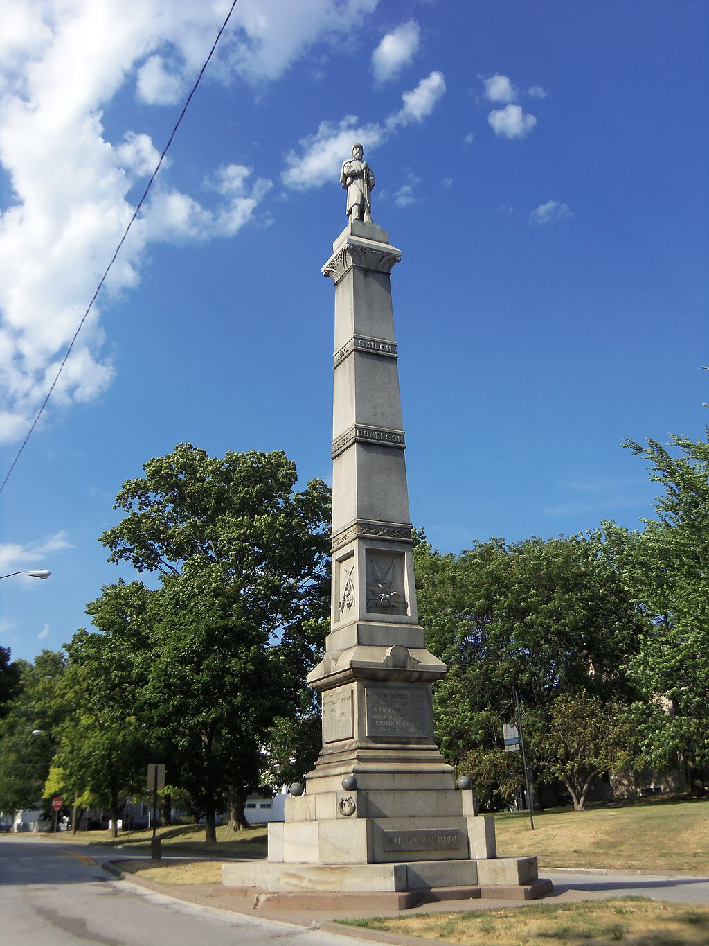 The Soldier's Monument was built in 1881.