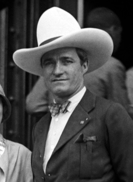 Actor Tom Mix, photographed in 1925