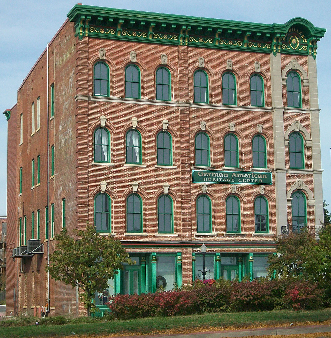 Built in 1871, the German American Heritage Center was originally a hotel for German immigrants.