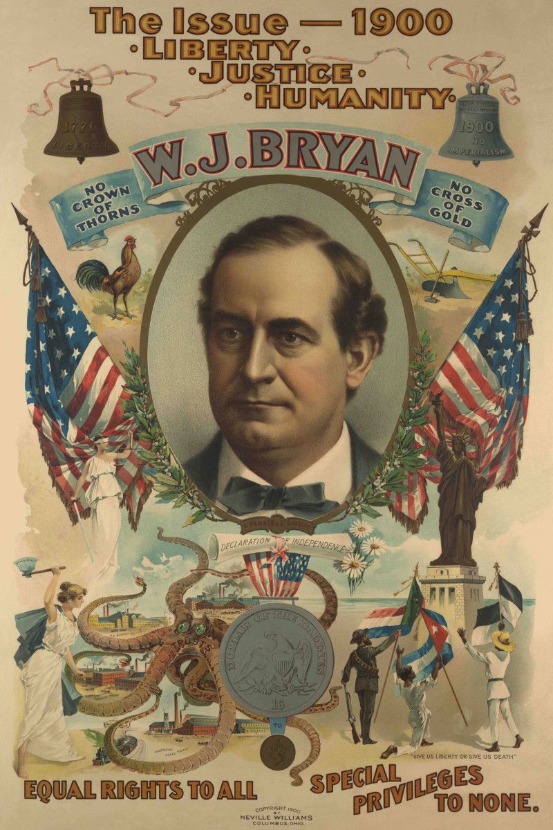 Advertisement from Bryan's failed presidential campaign in 1900