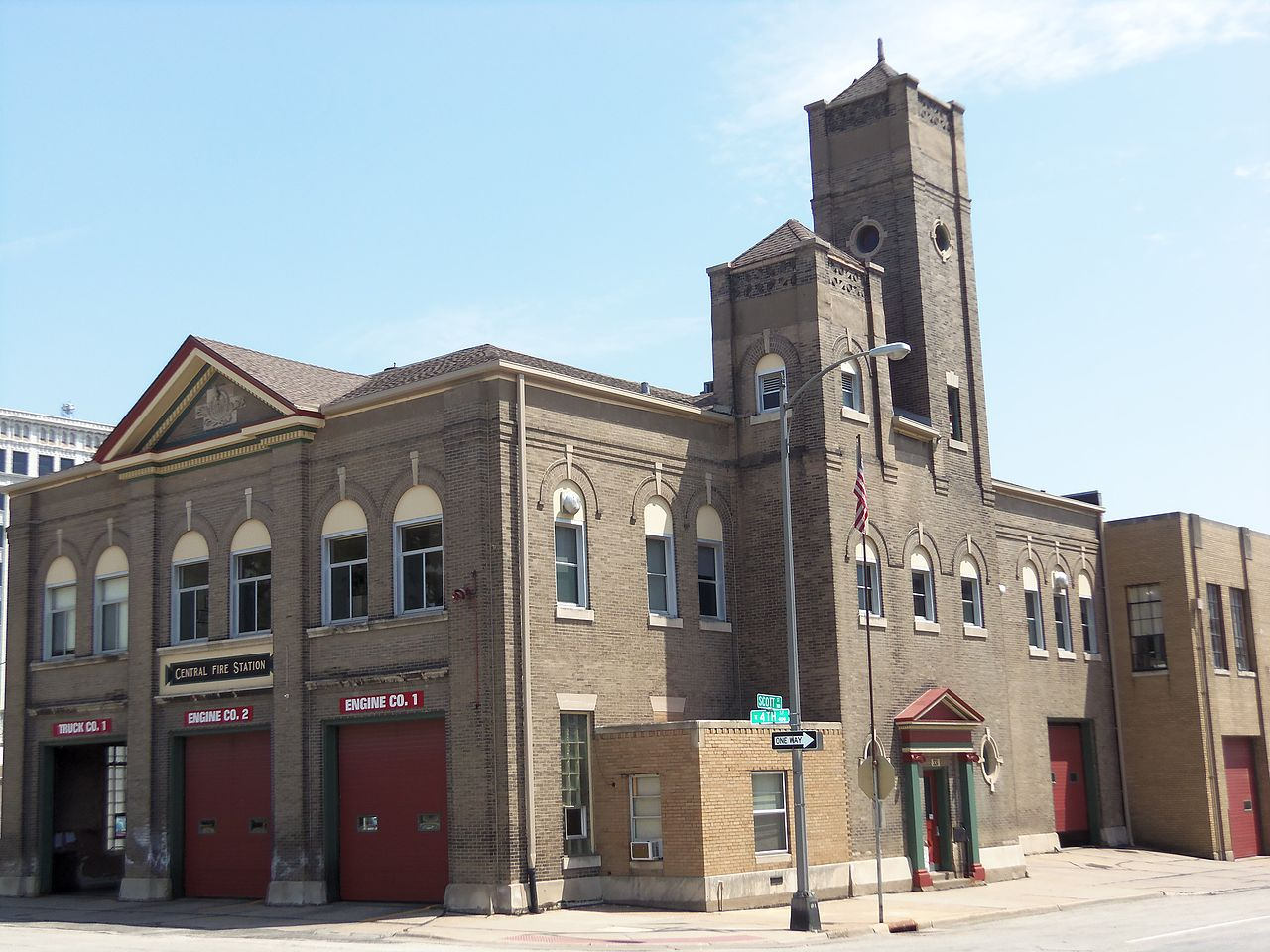 Central Fire Station was built in 1901. It is the oldest continuously used fire station west of the Mississippi River.
