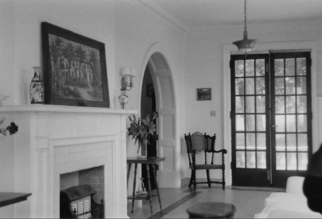 Sunroom of the mansion in 1999