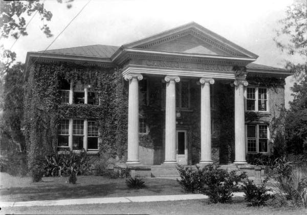Carnegie Library at Florida A&M University, circa 1930, from floridamemory.com