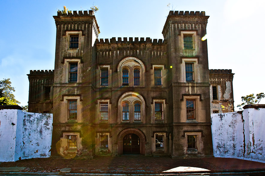 Front view of the Old Charleston Jail