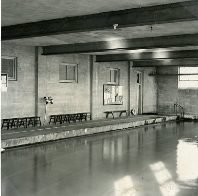Pool in old gymnasium