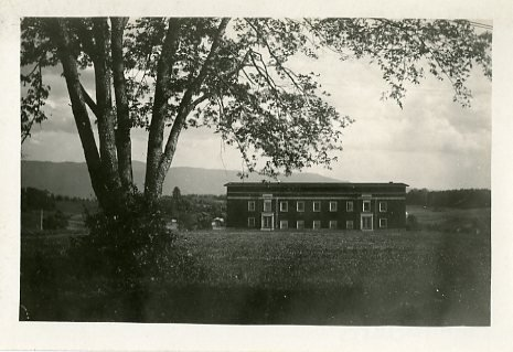 Original exterior of the old gymnasium