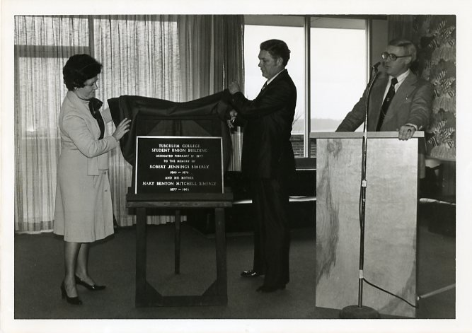 Dedication ceremony and renaming of Simerly Student Union, 1977
