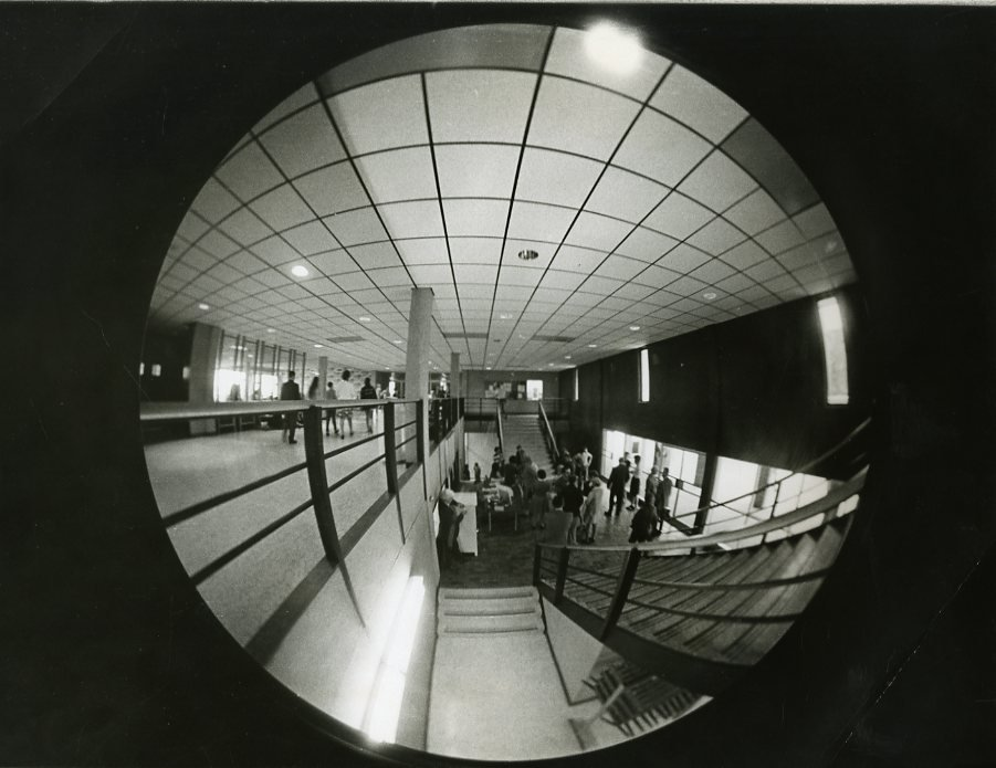 Fisheye view of Simerly Student Union