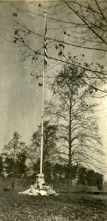 The flag pole.