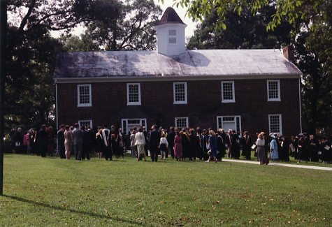 Rededication Ceremony of Old College in the 1990s