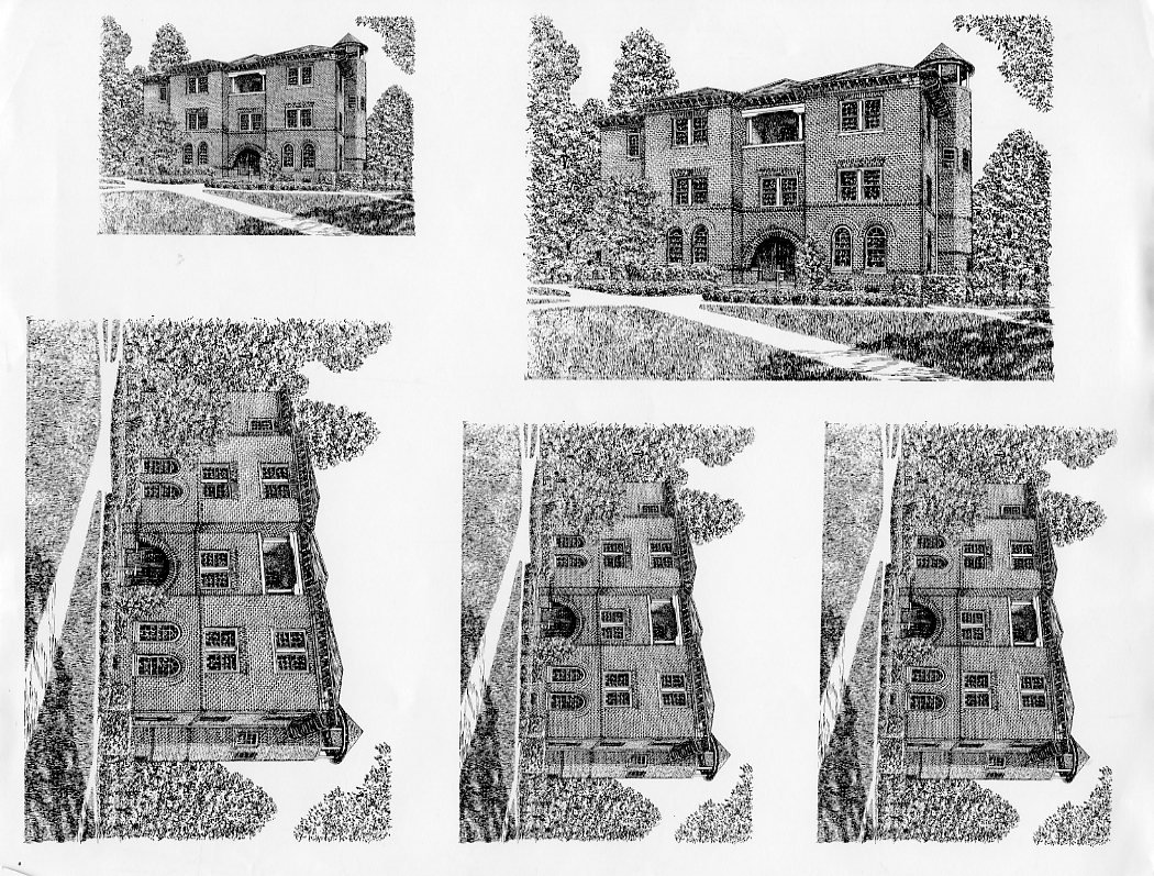 Sketches of McCormick Hall.