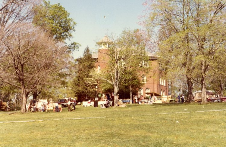 McCormick Hall during the Old Oak Festival in 1982.