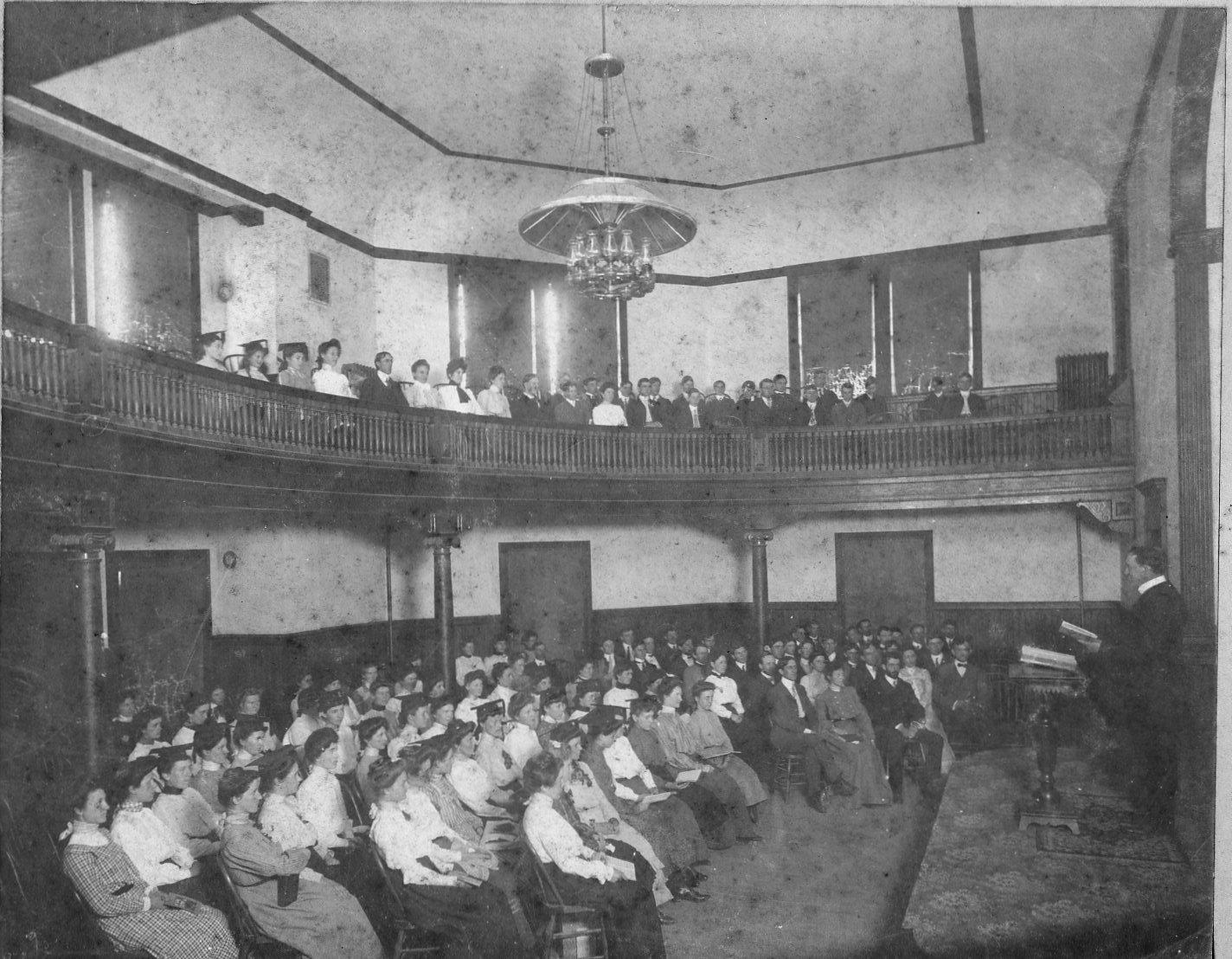 McCormick Hall Interior circa 1903.