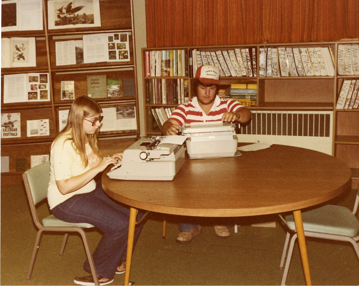 Students working, circa 1970s.