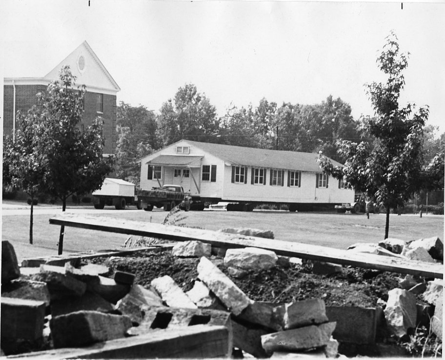 Moving the Student Union Building, late 1960s.