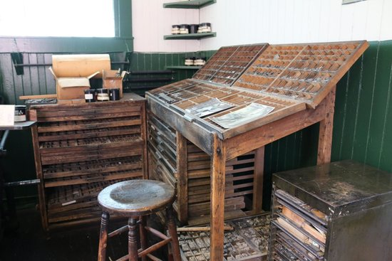 Interior of the print shop