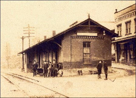 An early photo of the depot