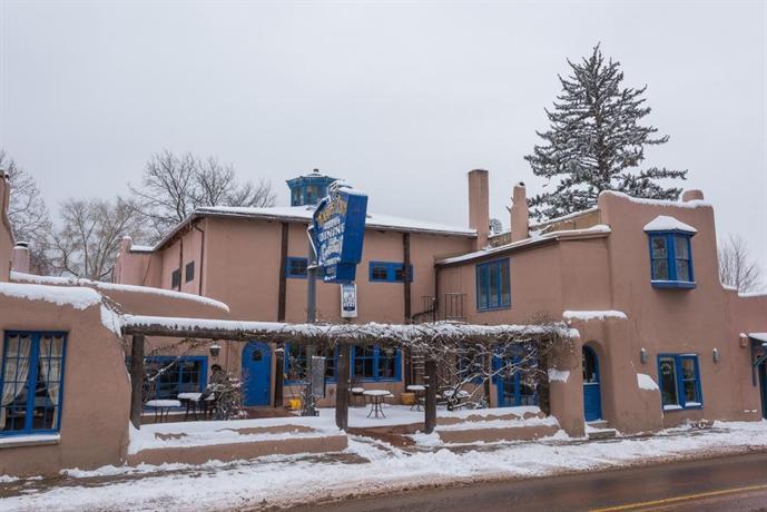Wintery Beauty: the Historic Taos Inn's Exterior