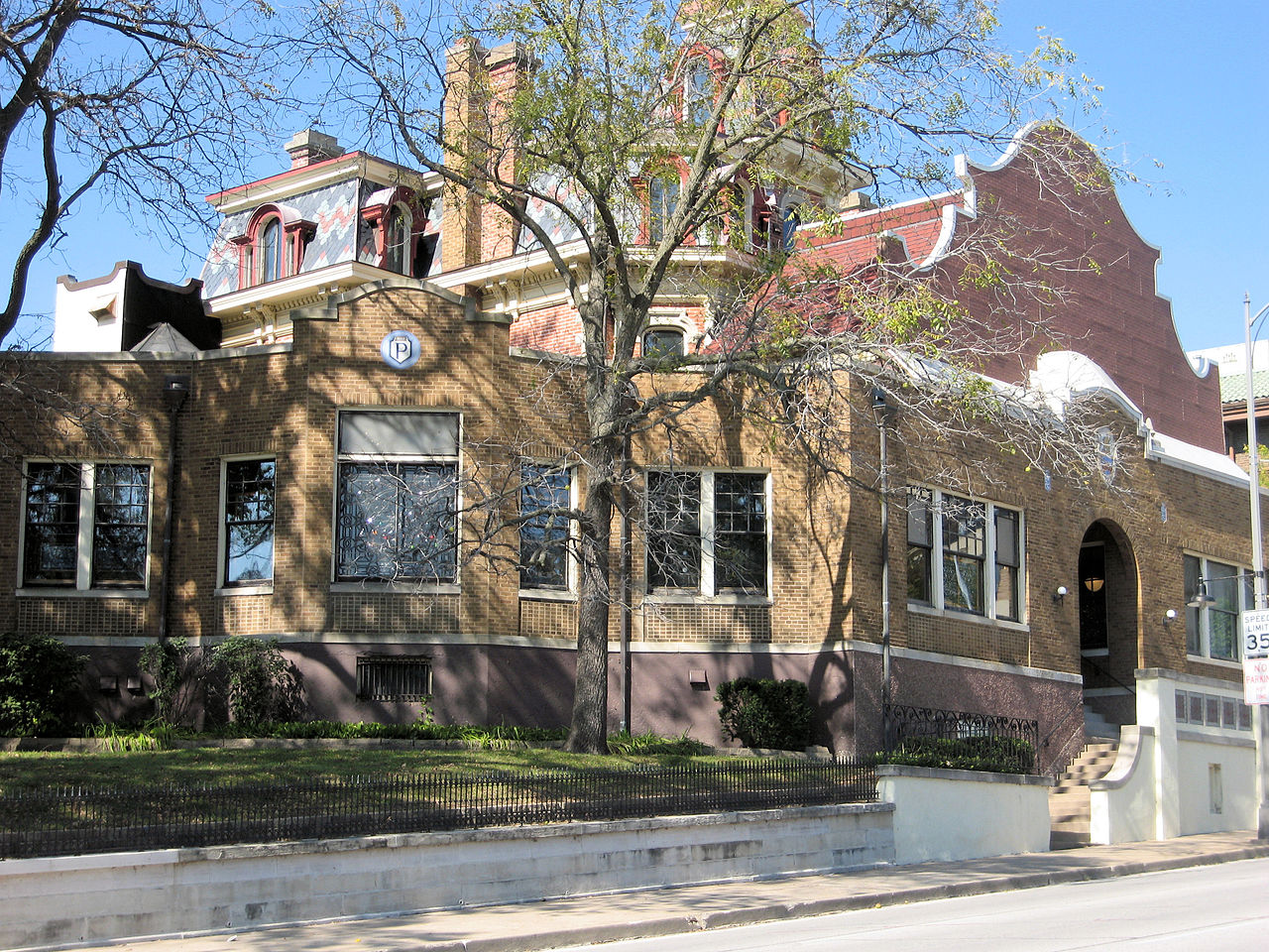 The Palmer House was originally built in 1874 and was the home of developer of chiropractic medicine B.J. Palmer.
