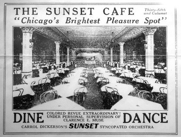 Early photograph of the Sunset Cafe.